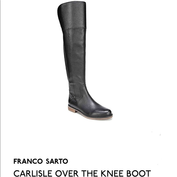 60066585b21 Franco Sarto Shoes - Franco Sarto Black pebble leather Carlisle Boot